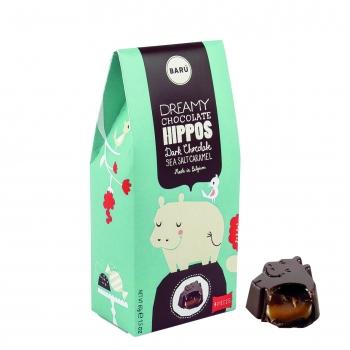 Barú Dark Chocolate Hippos Sea Salt Caramel 60g