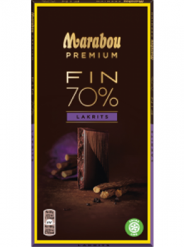 Marabou Premium 70 % Cocoa Liquorice 100 g