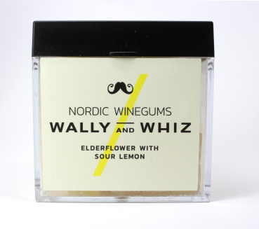 Wally and Whiz Elderflower with Sour Lemon, veganes Winegum Holunderblüte mit saurer Zitrone 140 g