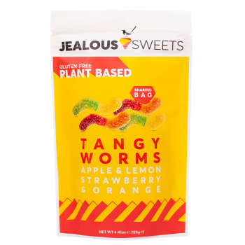 Jealous Sweets Vegan Fruit Gum Tangy Worms 125 g