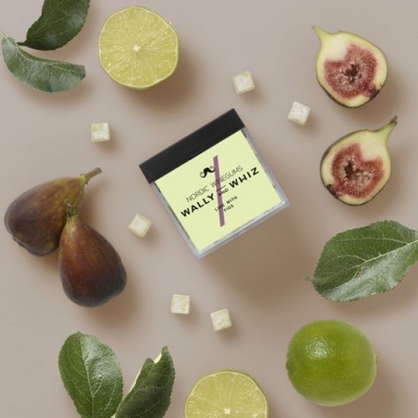 Wally and Whiz Lime with Figs, veganes Winegum Limette mit Feige 140 g
